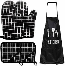 Chioture 5PCS Oven Mitts and Pot Holders,2 Oven