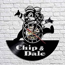 Chip And Dale Wall Clock New Year Gift Vinyl Wall
