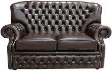 Chipman Genuine Leather 2 Seater Loveseat Sofa