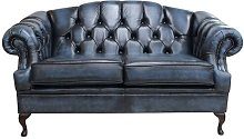 Chipps Genuine Leather 2 Seater Chesterfield Sofa