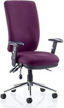 Chiro High Back Office Chair In Tansy Purple With