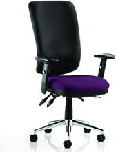 Chiro High Black Back Office Chair In Tansy Purple