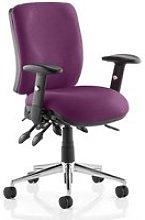 Chiro Medium Back Office Chair In Tansy Purple