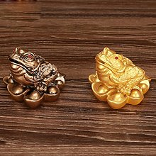 chiwanji 2-Pack Feng Shui Lucky 3 Legged Frog Toad