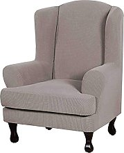 CHNSKIN Stretch Wing Chair Slipcovers 2 Piece,