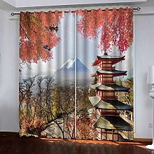 CHNXXL Blackout Eyelet Curtains For Bedroom 3D