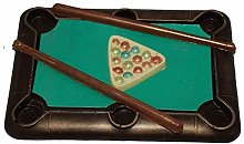 Chocolate Snooker/Pool Table Set Handmade from