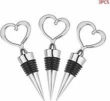 chongbeier 3pcs Heart Shape Champagne Red Wine