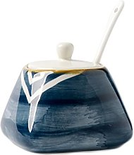CHOOLD Vintage Hand-Painted Ceramic Spice Jar with