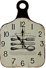 Chopping Board Design Wall Clock With Dining