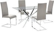 Chopstick 130 Cm Dining Table + 4 Jet Chairs