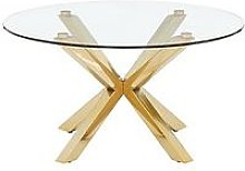 Chopstick Glass And Brass Coffee Table