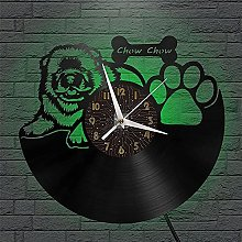Chow Chow theme vinyl record wall clock wall clock