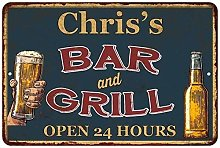 Chris'S Green Bar And Grill Personalized Metal