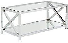 Christie Glass And Chrome Coffee Table