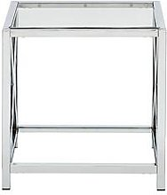 Christie Glass And Chrome Lamp Table