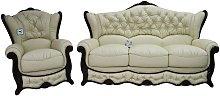 Christina 3 Seater + Armchair Genuine Italian