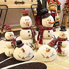 Christmas 2017 Linen Snowman Dolls Ornament Table