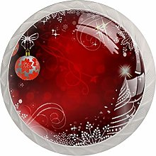Christmas 4 Packs Cabinet Door Knobs with