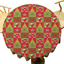 Christmas 50Inch Round Fireplace Socks for