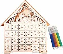Christmas Advent Calendar Basswood DIY with 4