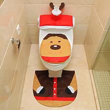 Christmas Bathroom Decorations Santa Toilet Seat