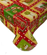 Christmas Bright Festive Design PVC Tablecloth