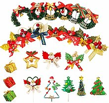 Christmas Cake Toppers,24 Pieces Cute Table