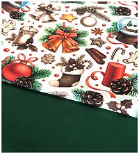 Christmas Candles Bells Flasks Tablecloth 2021