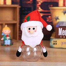Christmas Candy Jar Cookie Storage Bottle Santa