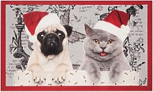 Christmas Cat and Dog Doormat Hanse Home