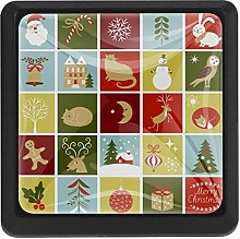 Christmas Characters Illustrations Square Cabinet
