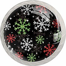 Christmas Colorful Snowflake Drawer knobs Hardware