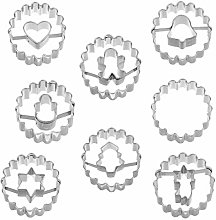 Christmas Cookie Cutters, 8 Piece Xmas Biscuit
