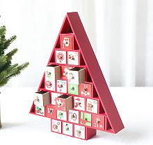 Christmas Countdown Calendar Wooden Desk Calendar