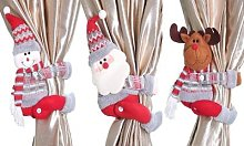Christmas Curtain Buckle: Santa/Two