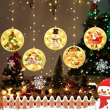 Christmas Curtains Lights Chandelier 3D Christmas