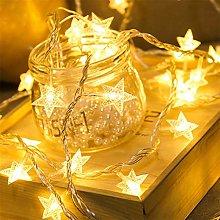 Christmas Day USB Lantern 20 LED Pentagram Shaped