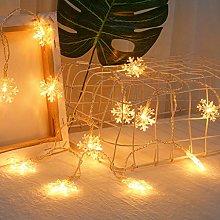 Christmas Day USB Lantern 20 LED Snowflake Shaped