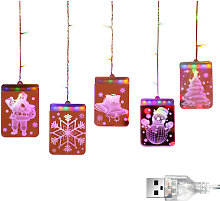 Christmas Decoration 3D Twinkle Hanging Lights