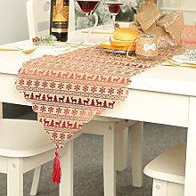 Christmas Decoration Linen Printed Table Flag