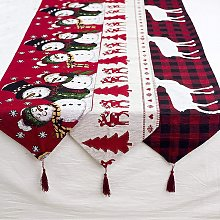Christmas decorations-cotton linen-embroidered
