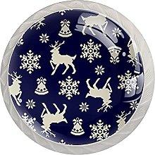 Christmas Deer (Set of 4) 4pcs Crystal Glass
