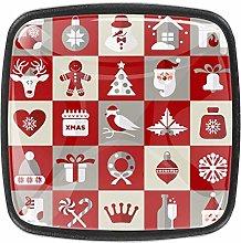 Christmas Design [4 PCS]Decorative Cabinet