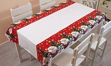 Christmas Disposable Tablecloth: Four/Santa and