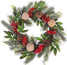 Christmas Door Wreath Pine Artificial Christmas