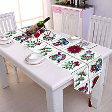 Christmas Embroidered Table Runner Xmas Table