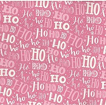 Christmas Festive Greetings Poly-Cotton Fabric by