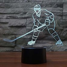 Christmas Gift Bike Lights 3D Lamp 3D Ice Hockey