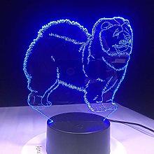 Christmas Gift Chow Chow Dog Lamp Night Light Kid